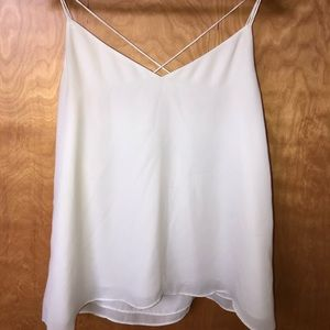 Sheer polyester flowy tank top